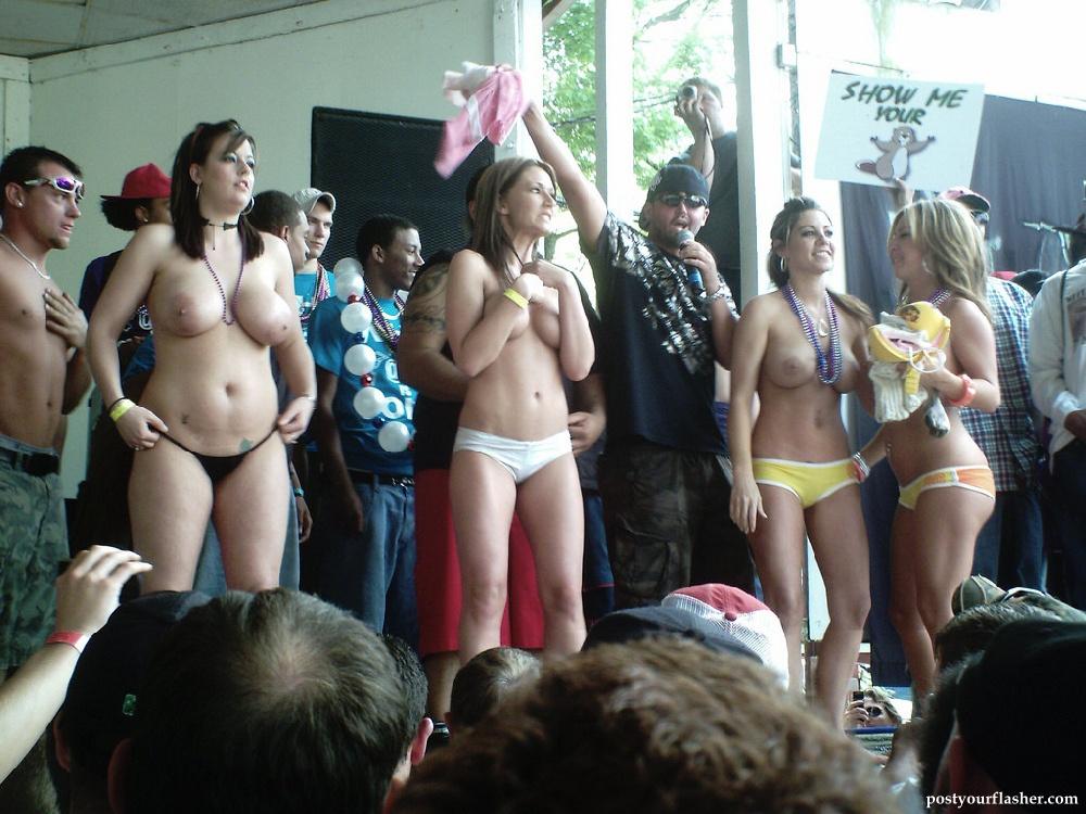 Public nude contest