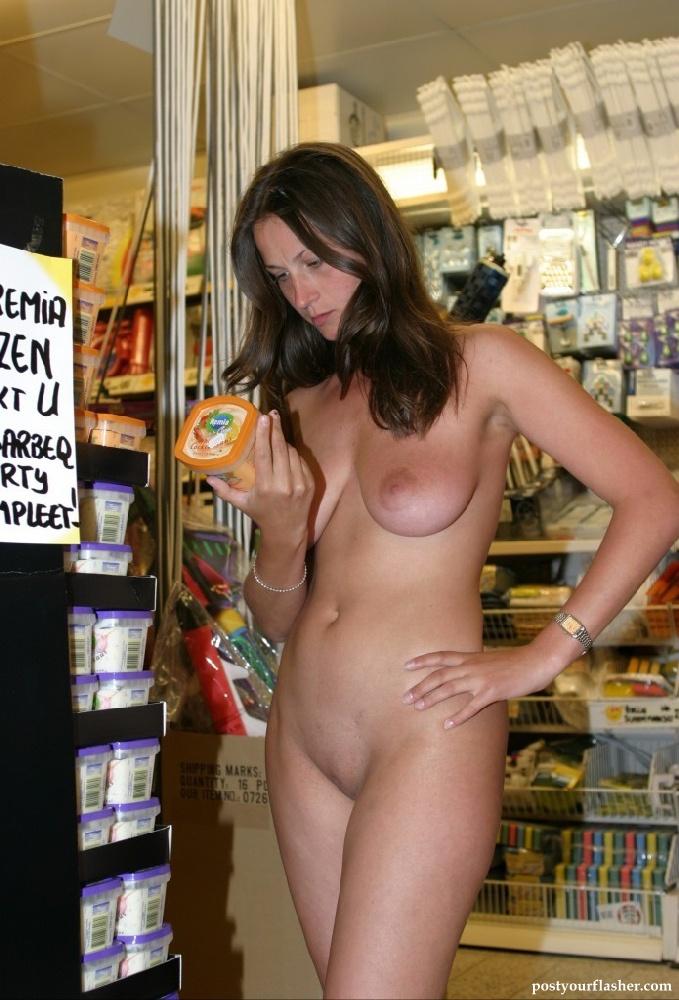 Flashing naked at the mall
