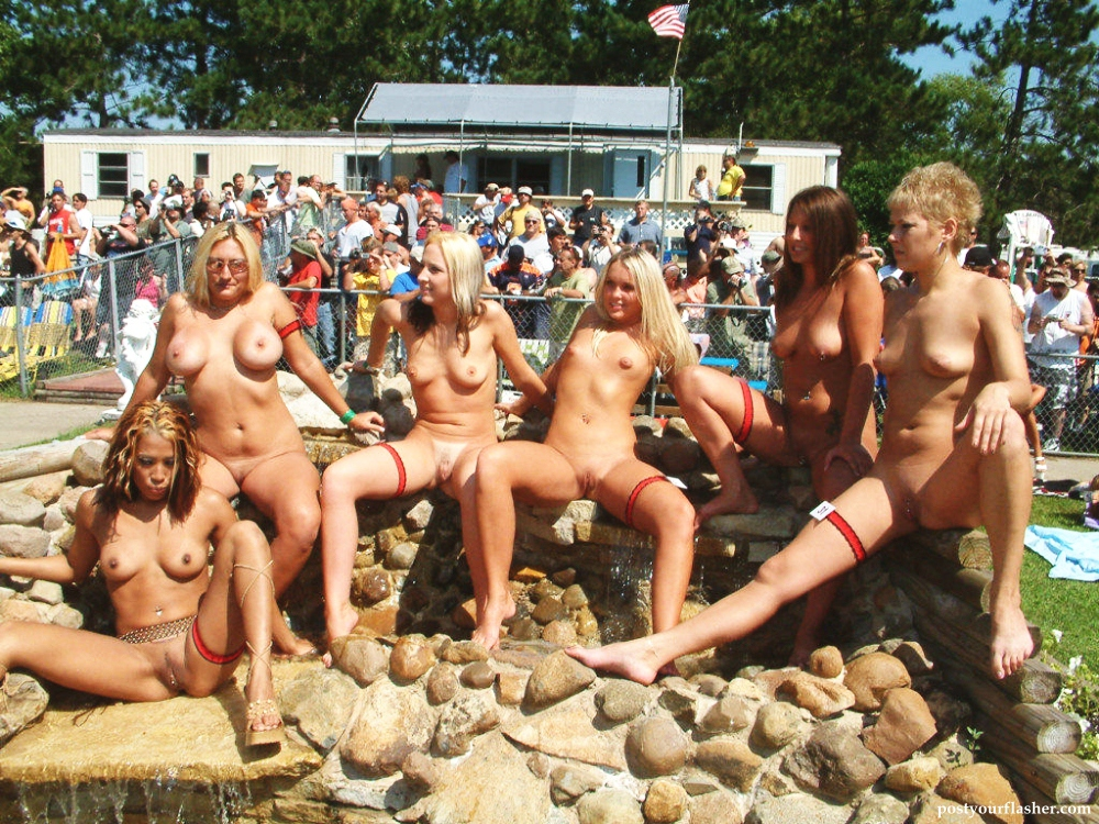 Contest public nude Video shows